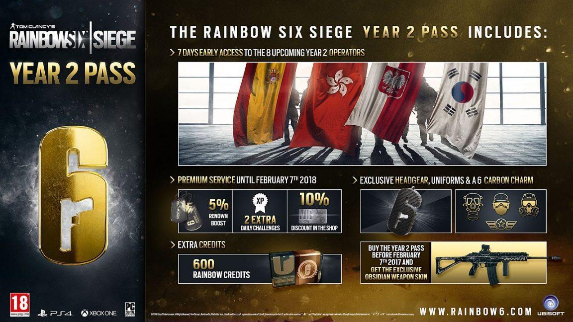 خرید اکانت بازی Rainbow Six Siege + Year 2 Pass