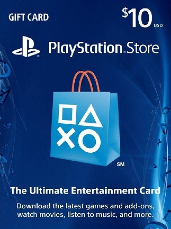خرید گیفت کارت 10 دلاری PSN