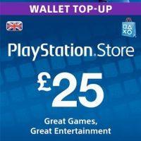 Playstation Network (PSN) 25GBP UK