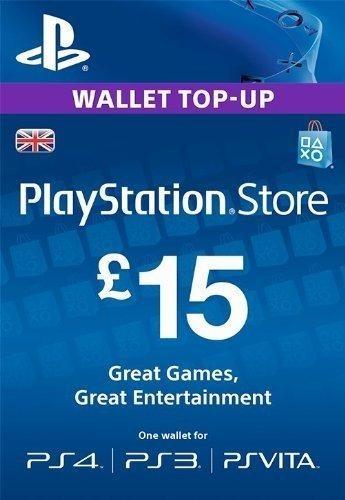 Playstation Network (PSN) 15GBP UK   گیفت کارت 15 پوندی انگلستان