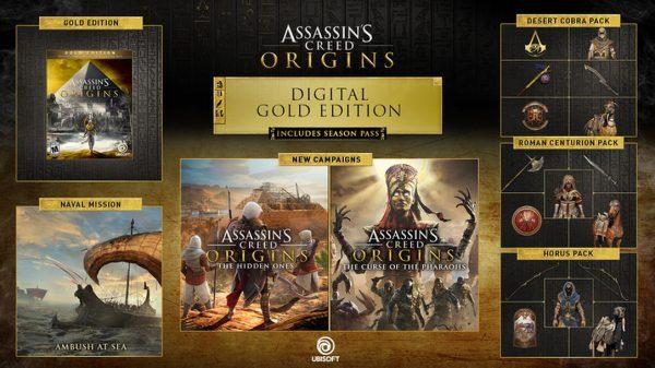خرید سی دی کی اریجینال یوپلی بازی Assassins Creed Origins Gold Edition
