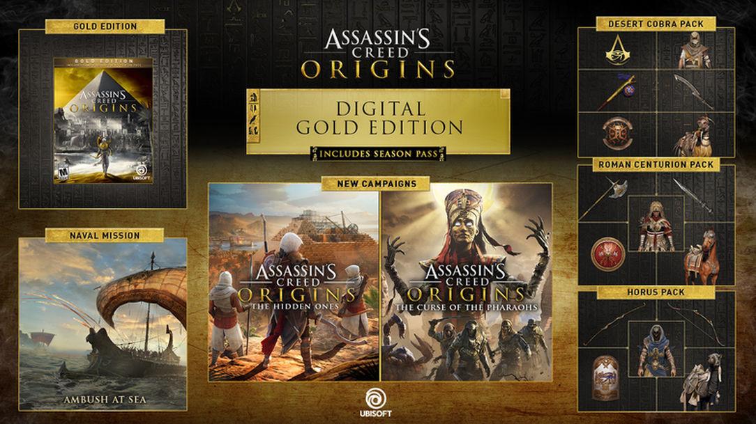 خرید اکانت بازی Assassins Creed Origins + Season Pass   با قابلیت تغییر ایمیل و پسورد