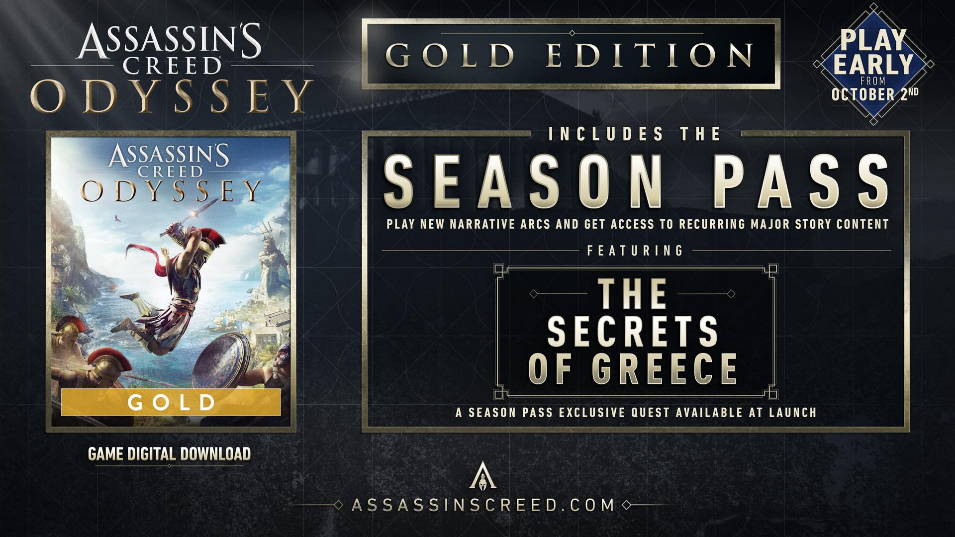 خرید سی دی کی اریجینال یوپلی بازی Assassins Creed Odyssey Gold Edition