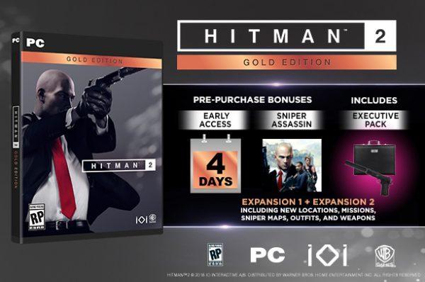 خرید سی دی کی اریجینال بازی Hitman 2 Gold Edition