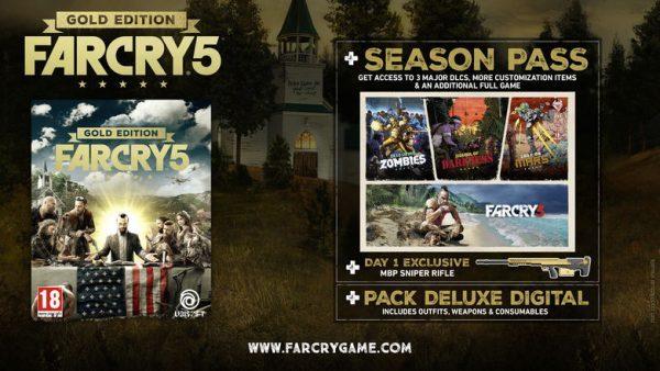 خرید سی دی کی اریجینال یوپلی بازی Far Cry 5 Gold Edition