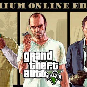 خرید سی دی کی اریجینال راک استار Grand Theft Auto V Premium Online Edition