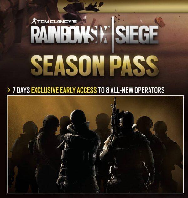 اکانت بازی Rainbow Six Siege + Season Pass